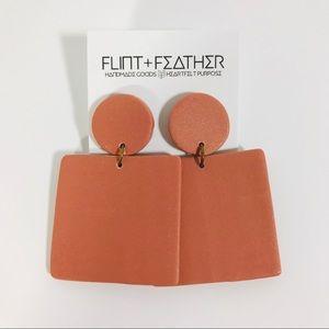 Flint+Feather Bea Earrings in Terra Cotta NWT